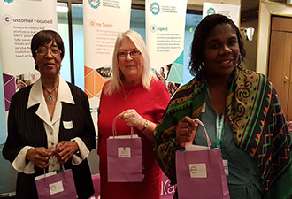 IMAGE: Three of our attendees from the International Women's Day event