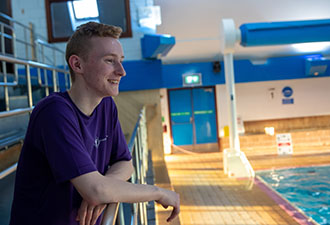 Jacob makes a big splash in swimming world!