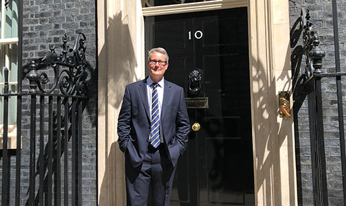 image: Paul Hackett at 10 Downing Street