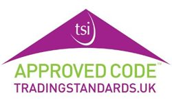 image: Approved code traditng standards logo