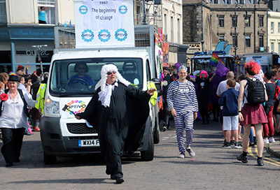 Image: Photo of the Optivo float in Hastings Pride