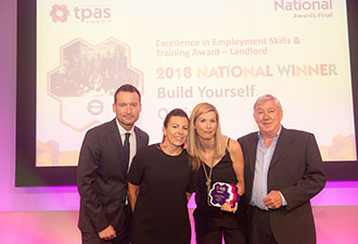 IMAGE: Our Build Yourself team at the TPAS award ceremony