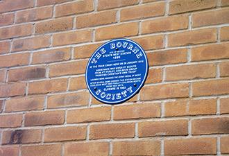 IMAGE: The blue plaque