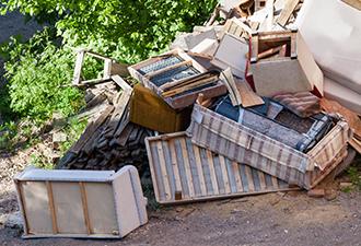 Image: dumped waste on estate