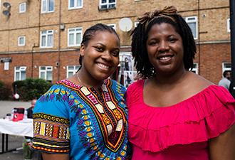 Image: Involved residents smiling