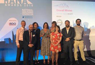 Image: Optivo Treasury & Risk Team collecting award